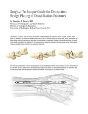 Surgical Technique guide for Bridge Plate & Distal Radius Fractures