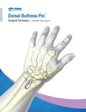 Dorsal Buttress Pin surgical techniques manual cover
