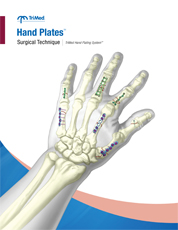Hand Plates surgical technique manual cover