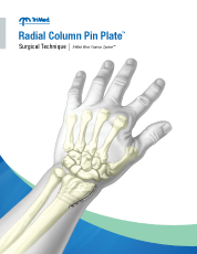 Radial Column Pin Plate surgical techniques manual cover