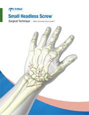 Small Headless Screw system surgical techniques manual cover