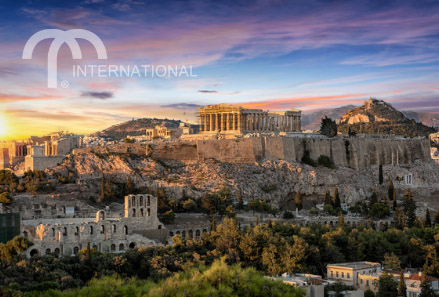 Aeriel view of Athens, Greece