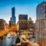 Skyline view of Chicago, Illinois