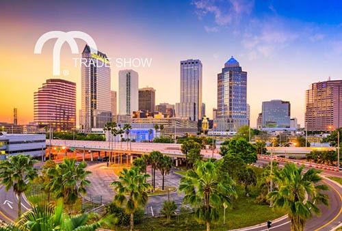 Tampa Bay, Florida city skyline at sunset