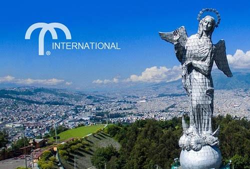 Angel statue in Quito, Ecuador