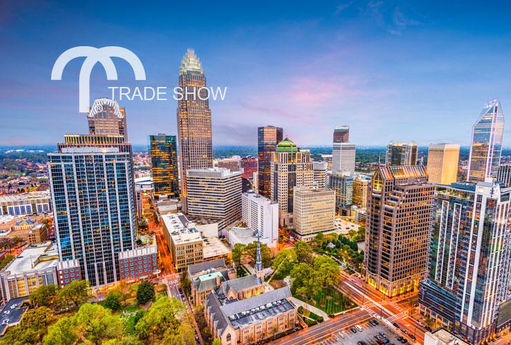Charlotte, NC city skyline at dusk