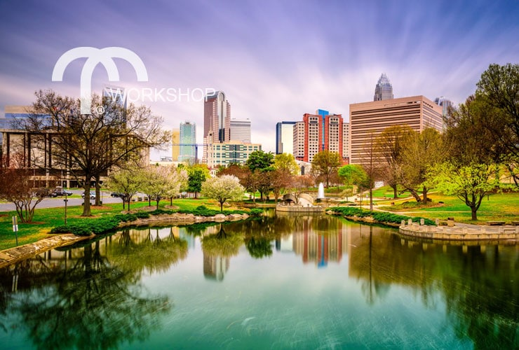 Charlotte, North Carolina downtown skyline